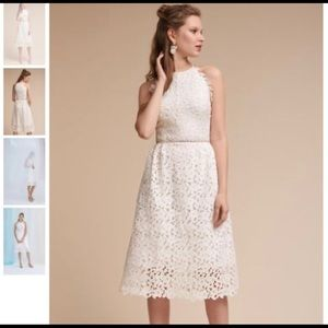 BHLDN HITHERTO JAMES DRESS COLOR IVORY SIZE 2